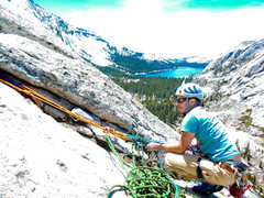 Rock Climbing Photo: Justin on Pywiack Dome