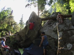 Rock Climbing Photo: Wise Man's Fear. The prob starts way down in the h...