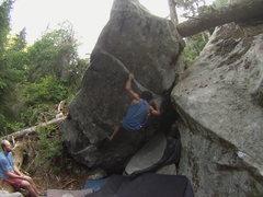 Rock Climbing Photo: Pablo making the FA of King Tut.