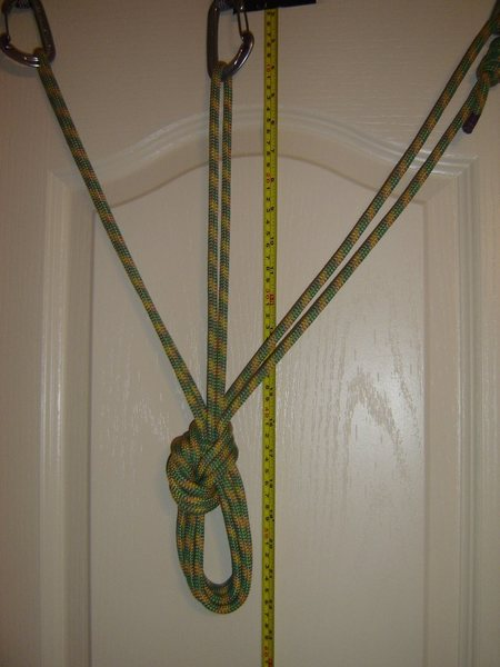 Standard cordelette with a Bowline on a bight.