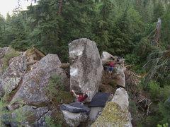 Rock Climbing Photo: John Lyman on French Exit.