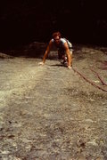 Rock Climbing Photo: A photo of me on Across the Universe taken by the ...