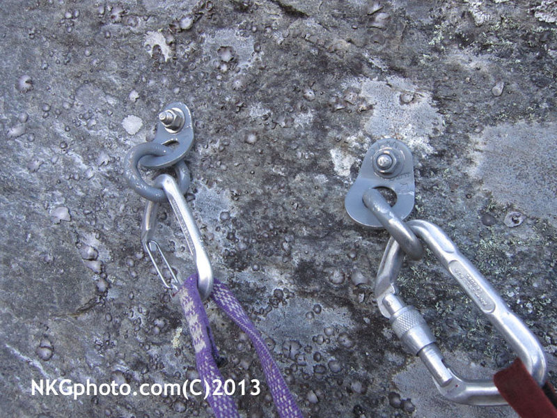 Rock Climbing Photo: Bolts are much less impact.