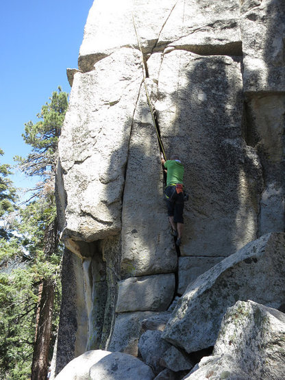 Rock Climbing Photo: Rick on Slap and Tickle with the fun fist crack st...