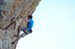 Rock Climbing Photo: Alex McIntyre at the link point into Corned Beef.....
