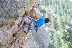 Rock Climbing Photo: Alex McIntyre in the crux of Special Brew on the F...
