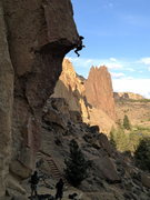 Rock Climbing Photo: My 2nd red point on chain reaction. 8.10.13