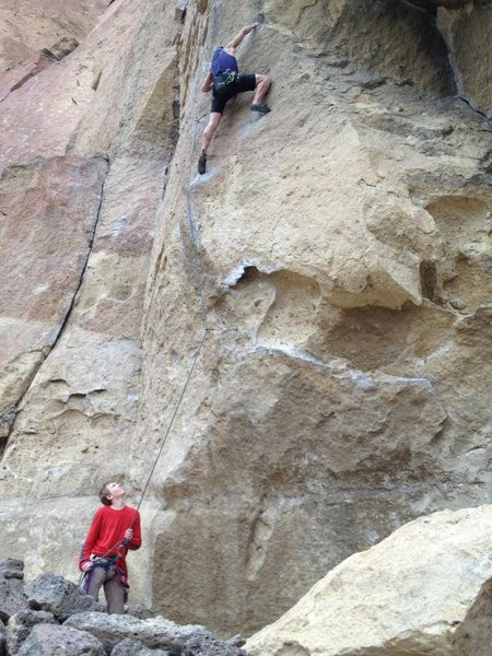 Rock Climbing Photo: First attempted and red pointed 5.11.