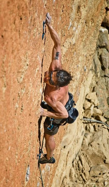 Rock Climbing Photo: Onsight attempt
