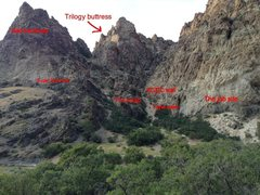 Rock Climbing Photo: Majority of walls on the north side near entrance ...