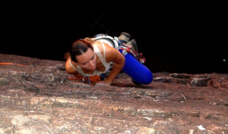 Rock Climbing Photo: determination!