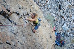 Rock Climbing Photo: Taryn Mead on the route