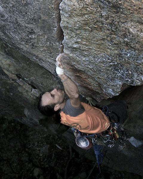 Rock Climbing Photo: chris vultaggio on harvest moon