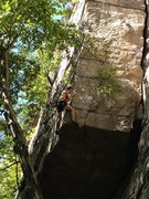 Rock Climbing Photo: Pete Guyre exiting the crux moves
