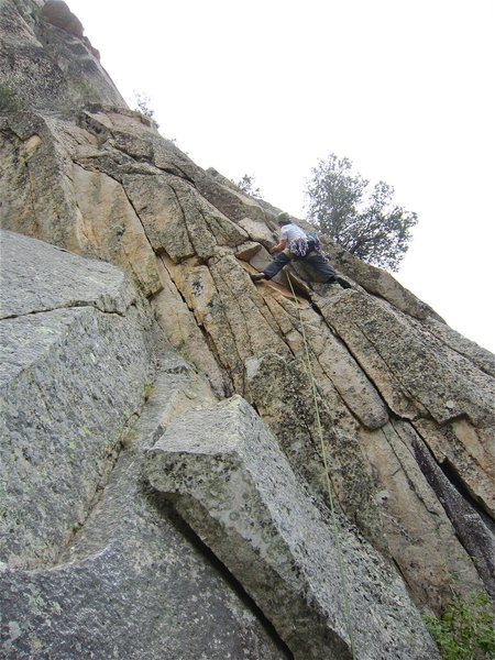 Rock Climbing Photo: Clay at the start of the route
