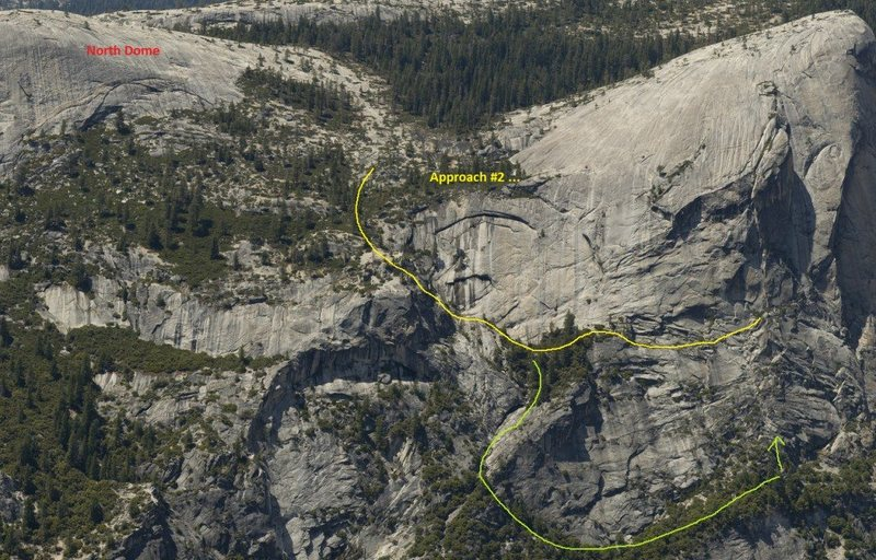 Rock Climbing Photo: Approach for Basket Case. Take upper, do not go on...