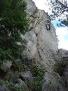 Rock Climbing Photo: On the face.