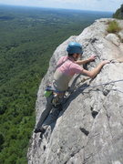 Rock Climbing Photo: Topping out 2nd pitch, High E