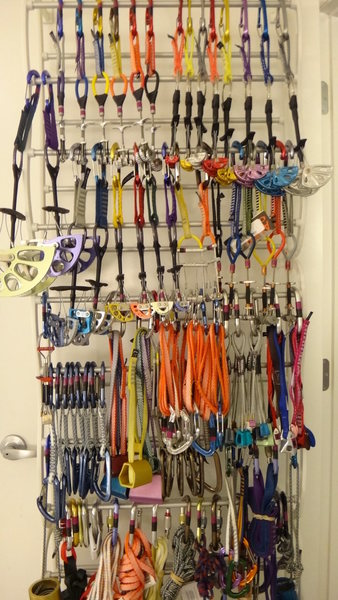 Rock Climbing Photo: Most of the rack