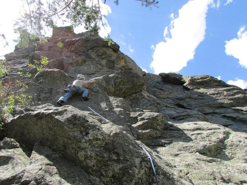 Rock Climbing Photo: Jay at the start.