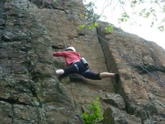 Rock Climbing Photo: This is at Ragged Mt, CT