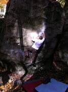 Rock Climbing Photo: Getting set up for the throw...