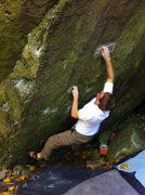 Rock Climbing Photo: The first move is quite a powerful deadpoint to a ...