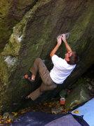 Rock Climbing Photo: Matching the crimp