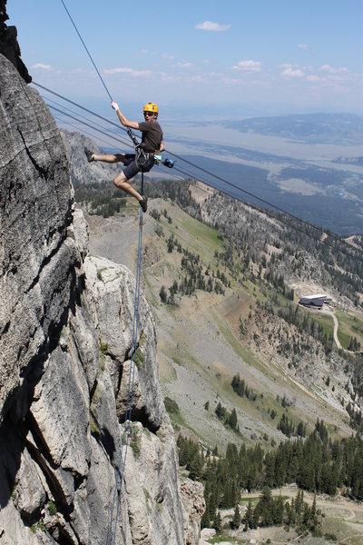 Rock Climbing Photo: rapping down