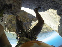 Rock Climbing Photo: Halfway up the crack