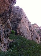 Rock Climbing Photo: The base of the Maiden Voyage in the Black Canyon