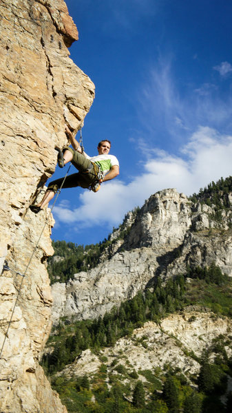 Rock Climbing Photo: Milking the rest