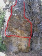 Rock Climbing Photo: Left line.