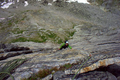 Rock Climbing Photo: Third belay above above the alcove chimney