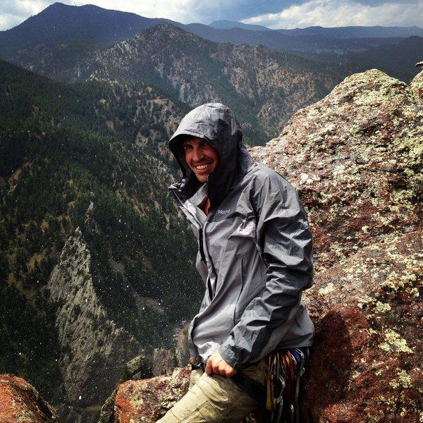 Rock Climbing Photo: Rainy day on Rewritten