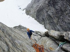 Rock Climbing Photo: top of pitch two on Sailor Jerry