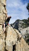 Rock Climbing Photo: Adam cruising up full appendage