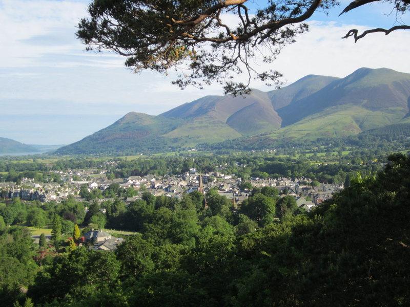 Rock Climbing Photo: Town of Keswick