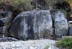 Rock Climbing Photo: Antline Boulder. Click for high-res version.  (1) ...