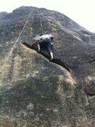 Rock Climbing Photo: Working the crack.