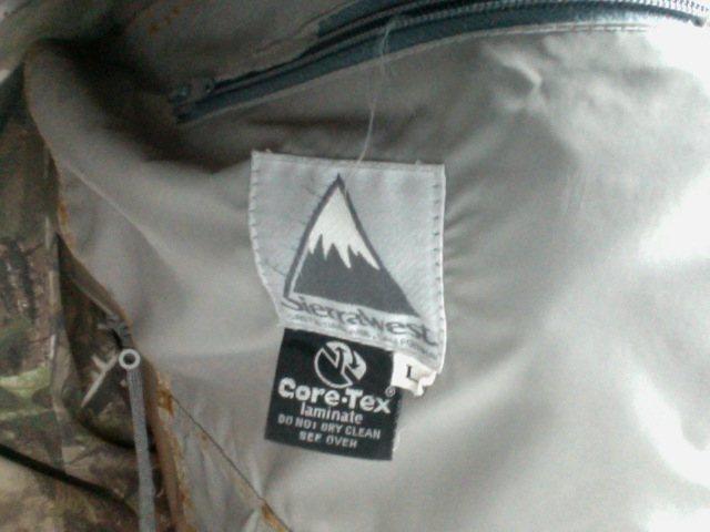 Rock Climbing Photo: Gore Tex Tag