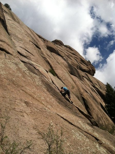 Rock Climbing Photo: Trad at the bucksnort slab - The classic