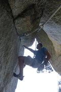 Rock Climbing Photo: Starting up p2