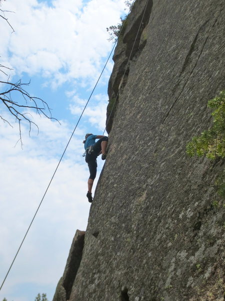 Rock Climbing Photo: The arete.