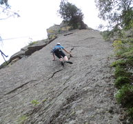 Rock Climbing Photo: Above the first crux. Only a short segment of the ...
