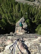 Rock Climbing Photo: Nice belay ledges on this one!