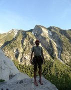 Rock Climbing Photo: Alan Cleary enjoying a perfect Wasatch evening