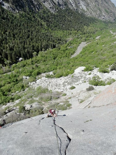 Rock Climbing Photo: Following the fun crack on P2