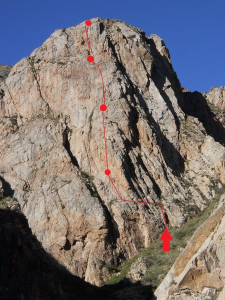 Rock Climbing Photo: Beta for the route, not too accurate though...