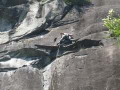 Rock Climbing Photo: Just above the crux on Angora Grotto.